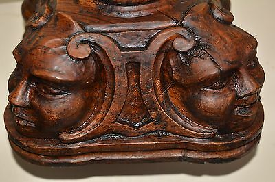 CARVED WOOD SCULPTURE TABLE LAMP ANTIQUE 19th century