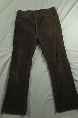 Vtg 70s USA Made Levi's 517 Corduroy Boot Cut Pants Tag 34x30 Measure 33x28