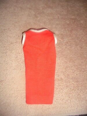 Vtg Tressy Red Doll Dress American Character No Tag White Trim Tressie Outfit