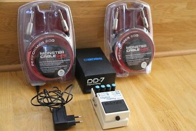 Boss DD-7 Digital Delay Pedal + Monster Kabel OVP