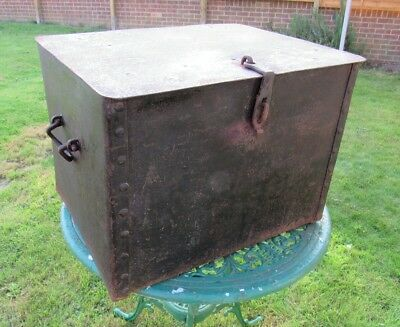 Antique Iron Hand Riveted Strong Box