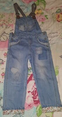 Girls dungarees age 4-5 years mothercare