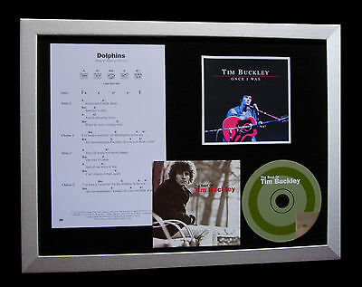 TIM BUCKLEY Dolphins GALLERY QUALITY MUSIC CD FRAMED DISPLAY+EXPRESS GLOBAL SHIP