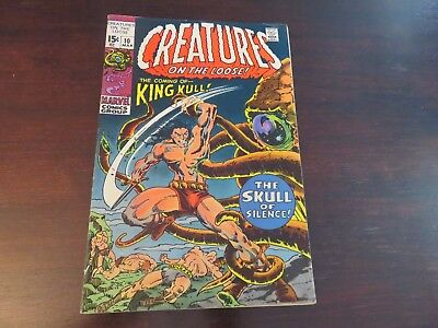 Creatures on the Loose #10 (Mar 1971, Marvel) Wrightson King Kull FN condition