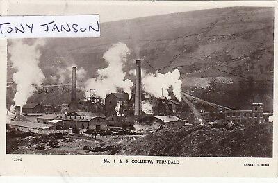 Real Photo FERNDALE nr TREORCHY Colliery COAL MINE Rare View