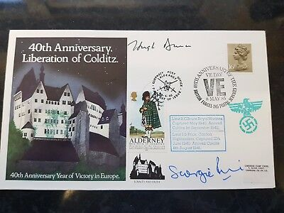 Hugh Bruce Colditz POW 1942 Autograph First Day Cover 40th Anniversary JS PRICE