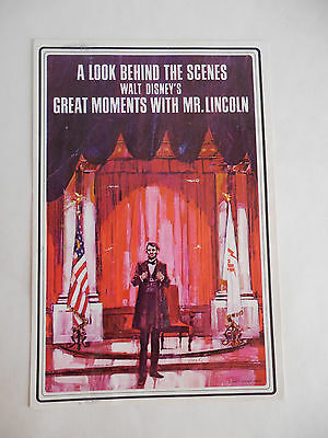 Rare 1960s Disneyland Great Moments with Mr. Lincoln Guest Brochure Disney