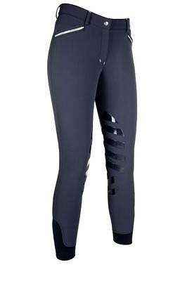 HKM Winter Insulated Silicone Knee Patch Soft-shell Softshell Breeches NAVY 28