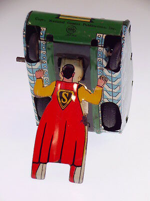"Gscom  ""superman Turnover Tank"" Linemar Toys Japan 1960, Wind Up Ok, Like New !"