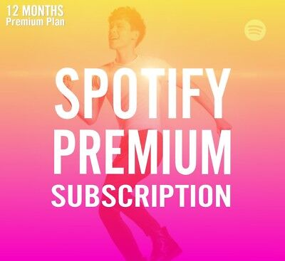 Spotify Premium Plan 12 Months 1 Year Subscriptions Genuine Official Worldwide