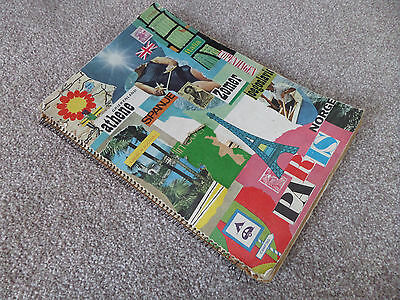 1 x Vintage Travel Dutch Germany Scrapbook 60s 70s cuttings choc wrappers ticket