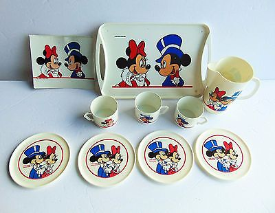 Mickey Mouse HG Industries - Tea Set - Cups & Saucers - very nice - 12 Piece Set