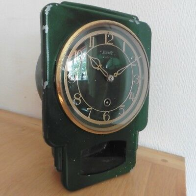 VINTAGE c1950s SMITHS ENFIELD METAL 8 DAY WALL CLOCK