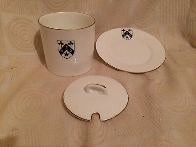 *****shelley Sugar Pot With Lid - Has Got A Heraldic Device Upon It*****