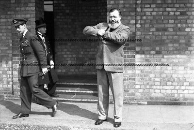 Photographic Glass Negative American Author Ernest Hemingway London May 1944 Ww2