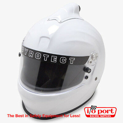 Pyrotect Pro Sport Top Forced Air Full Face Helmet, SA2015, White, Large
