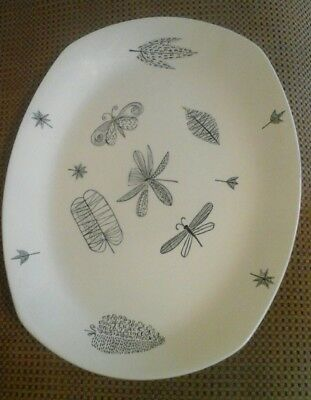 "Very Rare Midwinter Terence Conran ""nature Study"" Meat Serving Plate"