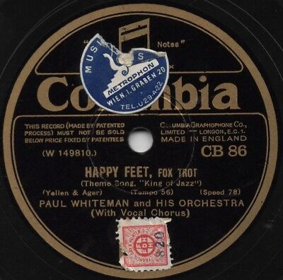 "78er Jazz Hot Dance 1930 Paul Whiteman Orchestra ""Happy Feet"""