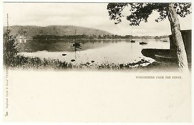 "WINDERMERE FROM THE FERRY -  c1900s Raphael Tuck ""Panoramic""  postcard - #1503"