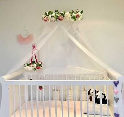 Handmade Floral Bed Canopy