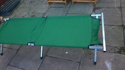 Large XL Folding Aluminium Camp Bed With Carry Case.