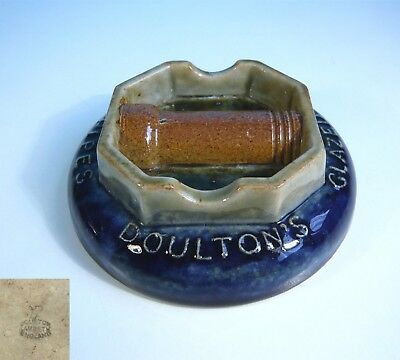 "Vintage Royal Doulton Lambeth Glazed Stoneware "" Pipes Advertising "" Ash Tray"