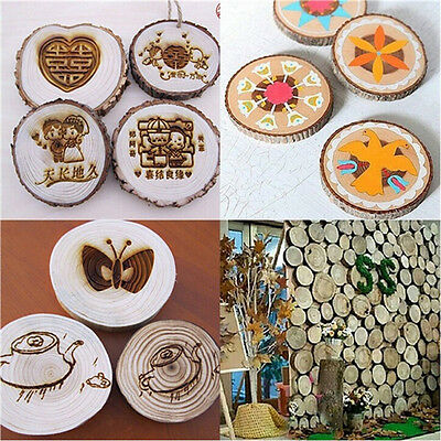 10x 3-4CM Wood Log Slices Discs for DIY Crafts Wedding Centerpieces Wood 5T