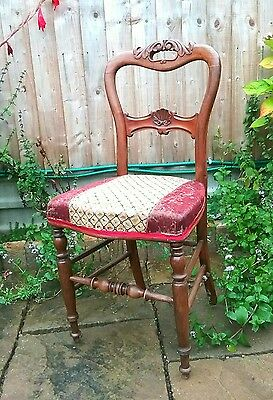Vintage French upholstered chair