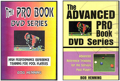 PRO BOOK & ADVANCED PRO BOOK DVD Sets - POOL Training for Competitive Players!