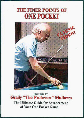 Grady Mathew's Finer Points of One Pocket DVD - a Classic Instructional!
