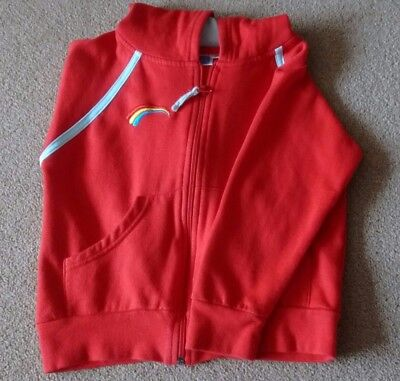 Rainbows Official Red Zip Hoodie / Hooded Jacket - Small Age 5-6, 110-116Cm