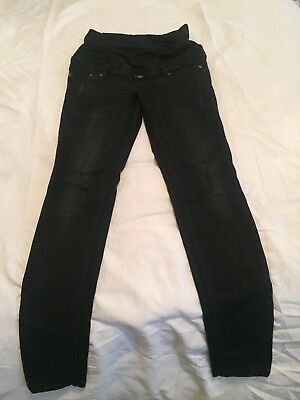 H&M Mama Black Over Bump Maternity Jeans Size 10-12/38