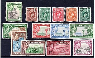 Jamaica (1914) 1938 King George V1 part set to 2/-  Mixed mint and used