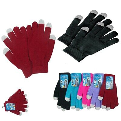 6, 12 Magic Winter Touch Screen Gloves Smart Phone Tablet Mitten Wholesale Lot