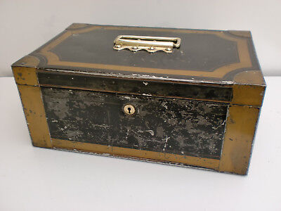 Antique Hobbs & CSL Ever London Metal Cash Deeds Safe Box