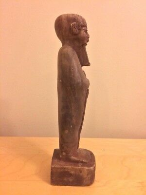 Egyptian Hamr Stone Striding God Ptah 27 x 6.8 Cm