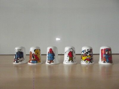 6 Childrens Character Themed Thimbles
