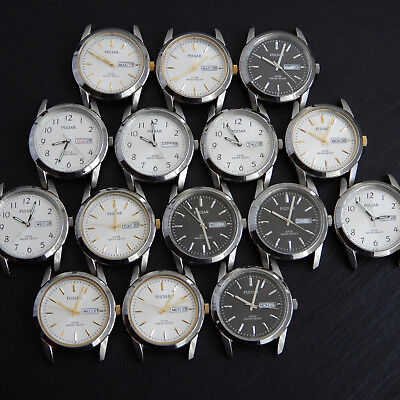 SEIKO Service Center JobLot 15 PULSAR Analogue Customer Returns WORKING & Spares