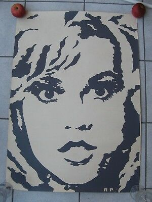 ART PRINT POSTER AUTHENTIC 60s PLAKAT ORIGINAL 60er JANE FONDA BARBARELLA