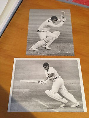 1980s Sunil Gavaskar India & Somerset batsman 2 Ken Kelly Press Photographs