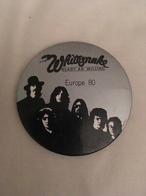 Whitesnake Ready An Willing Europe 80 Pin Badge