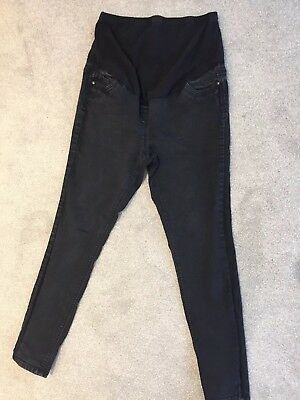 Over The Bump Black Skinny Jeans - 14