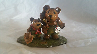 """Wee Forest Folk Collectible Bears BB-18 """"Lost on the Trail"""" NIB"""