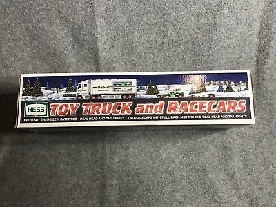 2003 Hess Toy Truck and Race Cars  Unopened Never Used