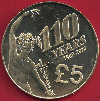 IOM Isle of Man Manx 2017 £5 Five Pounds 110 Years 1907-2017 of the TT Races Unc