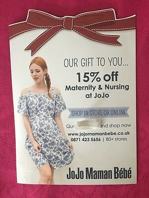 15% Money Off Voucher Coupon Jojo Maman Bebe - Maternity Nursing Range Clothes