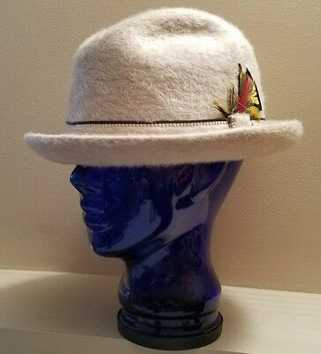 Vintage The Stetson Playboy Fedora Hat With Original Box Size 7 3/8 Soverign