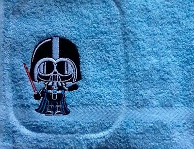 Personalised Embroidered Facecloth / Flanne - Vader / Star Wars