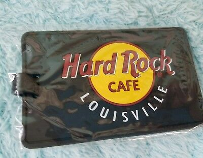Hard Rock Cafe Rubber Luggage Tag Houston-NEW Sealed!