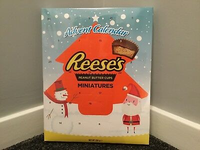 New Reese's Peanut Butter Cups Miniatures Chocolate Sweets Xmas Advent Calendar
